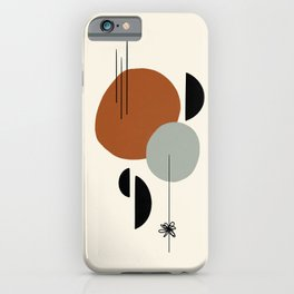 Mid century terracotta abstract shapes iPhone Case