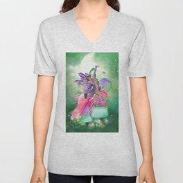 Joyful Fairy .. fantasy Unisex V-Neck