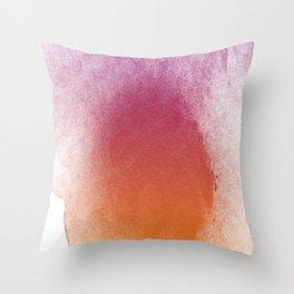 Watercolor Splashes Throw Pillow