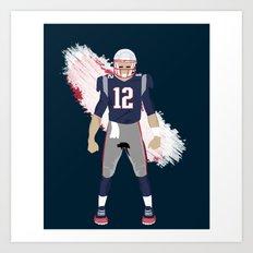 Pats - Tom Brady Art Print