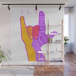ILY ASL ART Wall Mural
