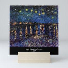 "van Gogh,"" Starry Night Over the Rhone "" Mini Art Print"