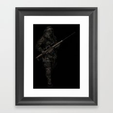 Soldier from the jungle Framed Art Print