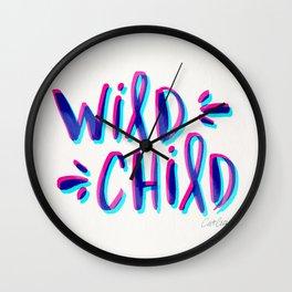 Wild Child – Magenta & Cyan Palette Wall Clock