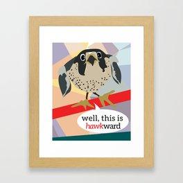 Awkward Hawk Framed Art Print