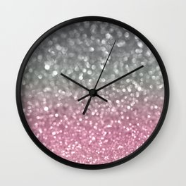 Gray and Light Pink Wall Clock