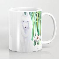 princess mononoke Mugs featuring Princess Mononoke by youcoucou