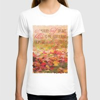 poem T-shirts featuring Autumn Leaves Poem by Graphic Tabby