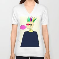 punk V-neck T-shirts featuring punk by Sproot