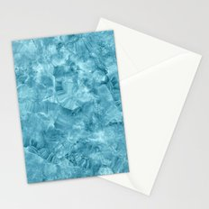 Blue onyx marble Stationery Cards