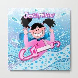 Josephine Winter Poster Metal Print