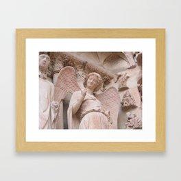 Reims Cathedral Smiling Angel Framed Art Print