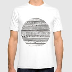 Analogue MEDIUM White Mens Fitted Tee
