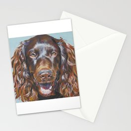 Boykin Spaniel dog art portrait from an original fine art painting by L.A.Shepard Stationery Cards