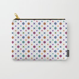 Small Flowers in White Carry-All Pouch