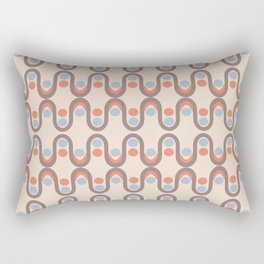 Steve Dots Blue Retro Rectangular Pillow