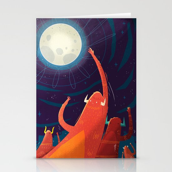 :::Touch the Moon::: Stationery Cards