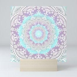 Bohemian Heaven Mandala Purple Blue White Mini Art Print