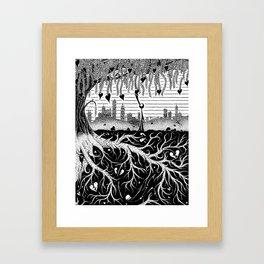 Composting Framed Art Print