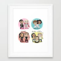 cyrilliart Framed Art Prints featuring Adventures of 1D & LM by Cyrilliart