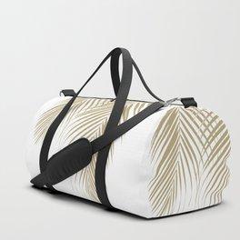 Summer Palm Leaves #1 #tropical #decor #art #society6 Duffle Bag