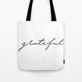 Grateful lettering design Tote Bag