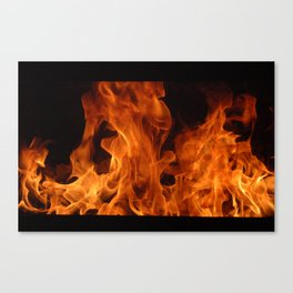 Study of Flame Canvas Print