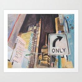 47 street Art Print