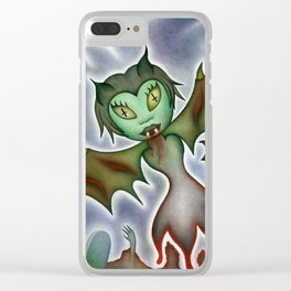 Tilda: Blood Elemental Clear iPhone Case