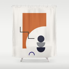 Abstract Shapes - Autumn Shower Curtain