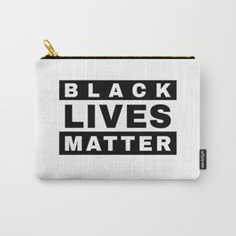 BLACK LIVES MATTER (in style of Explicit Content notice) Carry-All Pouch