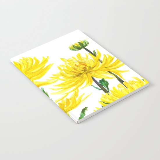 Yellow Chrysanthemums Notebook