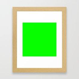 SOLID PLAIN UFO GREEN  WORLDWIDE TRENDING COLOR / COLOUR Framed Art Print