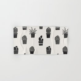 Southwestern Stamped Potted Cactus + Succulents Hand & Bath Towel