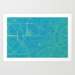 Aurea (Cyan Version) Art Print