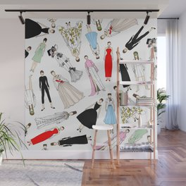 Audrey Fashion (Scattered) Wall Mural