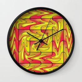 Liquefied abstract Wall Clock