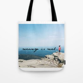 recovery is real Tote Bag