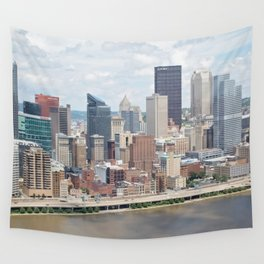 Downtown Pittsburgh Wall Tapestry