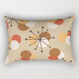 Atomic Age Molecules Starbursts Brown Orange Rectangular Pillow