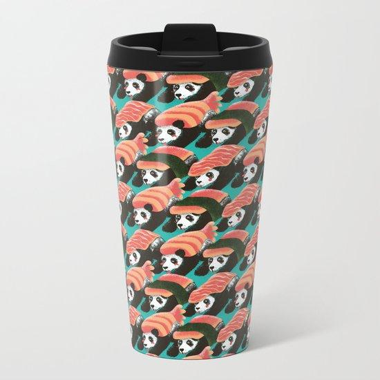 Sushi Panda Metal Travel Mug