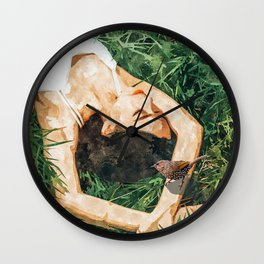 Jungle Vacay #painting #portrait Wall Clock