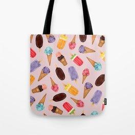 Ice creams Pattern   Summer pattern   Food illustration pattern Tote Bag