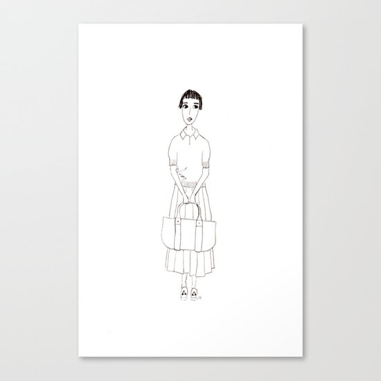girl in white Canvas Print