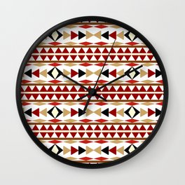 Navajo White Pattern Art Wall Clock
