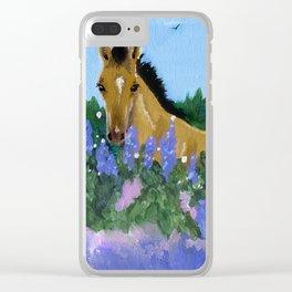 Flower Foal Clear iPhone Case