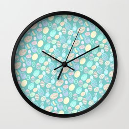 Painted eggs #3 Wall Clock