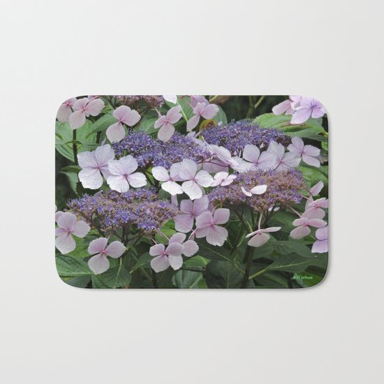 Hydrangea Violet Hues Bath Mat