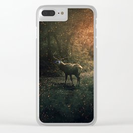 majestic forest guardian Clear iPhone Case