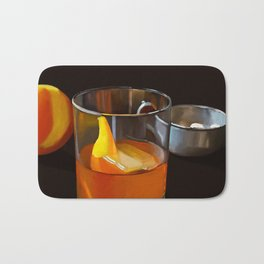 Whiskey old fashioned Bath Mat